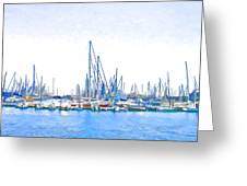 Yachts Simon Greeting Card by Jan Hattingh