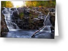 Yacolt Falls In Autumn Greeting Card