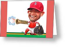 Yadier Molina Greeting Card