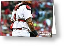 Yadier Molina, St. Louis Cardinals Greeting Card