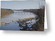 Yadkin Below High Rock Dam Greeting Card
