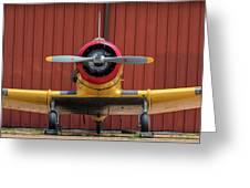 Yale And Hangar - 2018 Christopher Buff, Www.aviationbuff.com Greeting Card