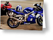 Yamaha Yzf-r6 Motorcycle Greeting Card