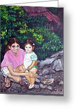 Yamileth And Daughter Greeting Card