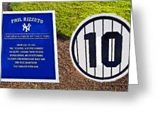 Yankee Legends Number 10 Greeting Card