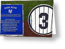 Yankee Legends Number 3 Greeting Card by David Lee Thompson