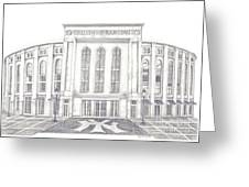 Yankee Stadium Greeting Card by Juliana Dube