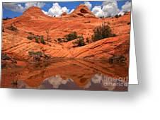 Yant Flat Canyon Reflections Greeting Card