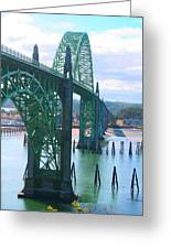 Yaquina Bay Bridge Br-9002 Greeting Card