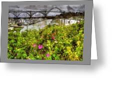 Yaquina Bay Roses Greeting Card