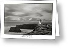 Yaquina Head Lighthouse - With Border Greeting Card
