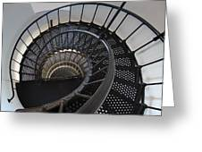 Yaquina Lighthouse Stairway Nautilus - Oregon State Coast Greeting Card