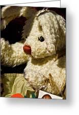 Yard Sale Bunny Greeting Card