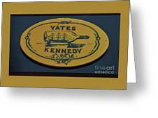 Yates Kennedy Sign Provincetown Greeting Card