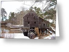 Yates Mill In Winter Greeting Card by Kevin Croitz