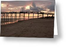 Yaupon Pier Sunset Greeting Card