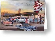Yaw's Top Notch Drive In Greeting Card by Mike Hill