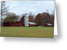 Ye Old Red Barn Greeting Card