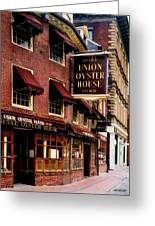 Ye Olde Union Oyster House Greeting Card