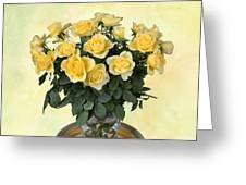 Yello Roses Greeting Card
