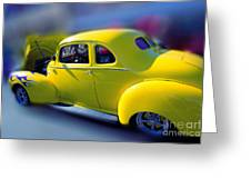 Yellow 1940 Hudson Greeting Card