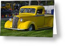 Yellow 30's Chevy Pickup Greeting Card