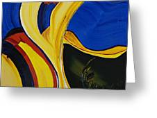 Yellow Abstract Greeting Card by Gregory Allen Page