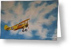Yellow Airplane Greeting Card