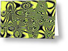 Yellow And Black #3 Abstract Greeting Card