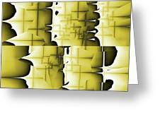 Yellow And Black 6 Greeting Card