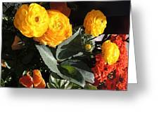 Yellow And Orange Marigolds Greeting Card