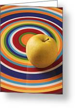Yellow Apple  Greeting Card by Garry Gay