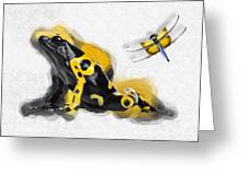 Yellow-banded Poison Dart Frog No 01 Greeting Card