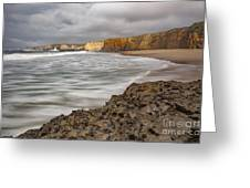 Yellow Bank Cliffs Greeting Card