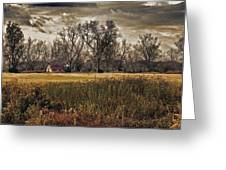 Yellow Barn And The Field Greeting Card