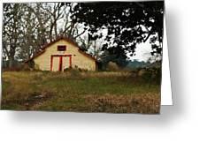 Yellow Barn Closeup Greeting Card