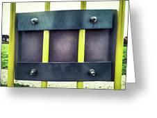 Yellow Bars Close Up  Greeting Card