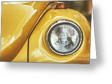 Yellow Beetle Greeting Card