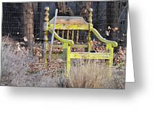 Yellow Bench Greeting Card