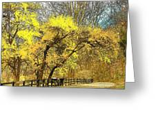 Yellow Bend Greeting Card by Joyce Kimble Smith