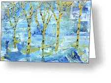 Yellow Birches Greeting Card