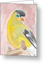 Yellow Bird 56 Greeting Card