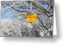 Yellow Bird House Greeting Card