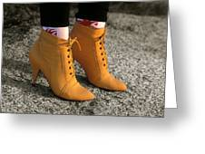 Yellow Boots Greeting Card by Tony Ramos