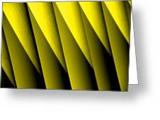 Yellow Borders Greeting Card