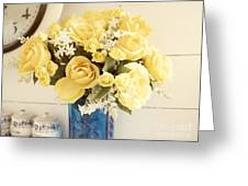 Yellow Bouquet Of Flowers Greeting Card