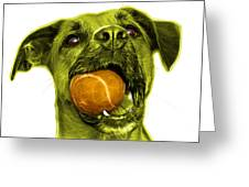 Yellow Boxer Mix Dog Art - 8173 - Wb Greeting Card