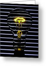 Yellow Bulb Greeting Card