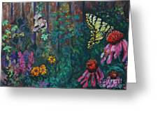 Yellow Butterfly Perched Greeting Card