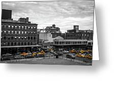Yellow Cabs In Chelsea, New York 2 Greeting Card